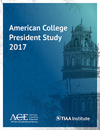 The American College President Report 2017 Cover